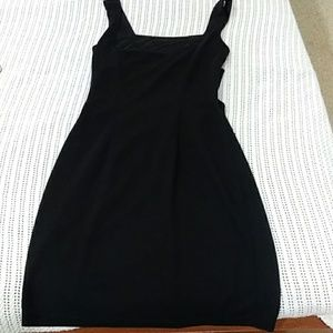 Black Dress with2 rear horizontal openings